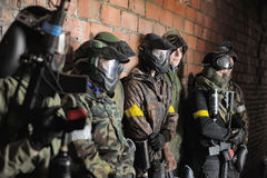 Paintball players Royalty Free Stock Photos