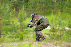 Paintball players Stock Images