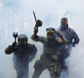 The paintball players Royalty Free Stock Photos