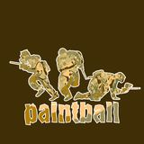 Paintball players Stock Photography