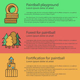 Paintball playground flat color illustration Royalty Free Stock Images