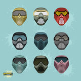 Paintball protection mask set Royalty Free Stock Images