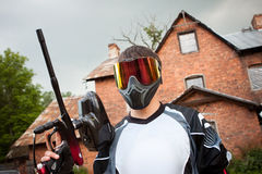 Paintball shooter royalty free stock image