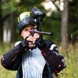 paintball shooter στοκ φωτογραφία