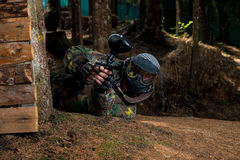 Paintball Shooter Royalty Free Stock Photos