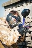 Paintball sport player Stock Images