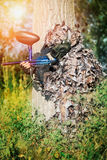 Paintball sport player Royalty Free Stock Image
