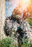 Paintball sport player Stock Image