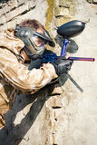 Paintball sport player Royalty Free Stock Photo