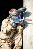 Paintball sport player Royalty Free Stock Photography