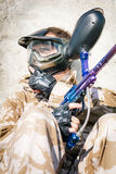 Paintball sport player Stock Photos