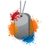 Paintball tags Royalty Free Stock Photo