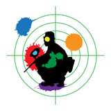 Paintball target Stock Image
