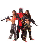 Paintball team Royalty Free Stock Images