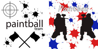 Paintball team Royalty Free Stock Photography
