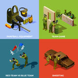 Paintball Team Design Concept Fotografie Stock