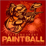 Paintball Team - extreme sport Stock Photos