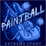 Paintball Team - extreme sport Royalty Free Stock Image