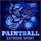 Paintball Team - extreme sport Stock Photo