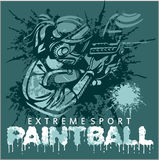 Paintball Team - extreme sport Stock Images
