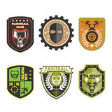 Paintball Team Logo Badge Royaltyfri Fotografi