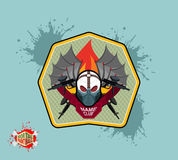 Paintball team logo and emblem. scary skull  in paintball  mask Royalty Free Stock Photos