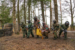 Paintball team. On start game Royalty Free Stock Photography