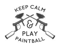 Paintball template. Paintballing poster design Stock Image