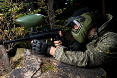 Paintball-tireur Lizenzfreie Stockbilder