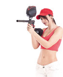 Paintball woman Stock Photo