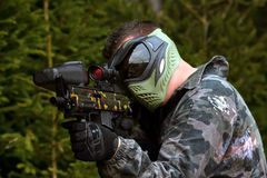 Paintballer Stock Images