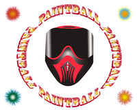 Paintballmaske Stock Abbildung