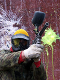 Paintballs. Men Stock Image