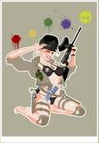 paintballstift upp vektor royaltyfri illustrationer