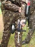 Paintballwaffe Stockbild