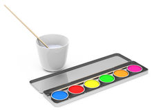 The paintbox Royalty Free Stock Images