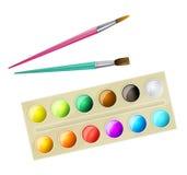 Paintbox da aquarela Imagens de Stock Royalty Free