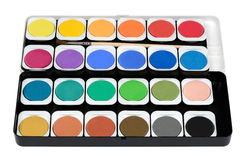 Paintbox. Painting color set paintbox with brush Royalty Free Stock Photography
