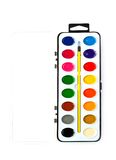 Paintbox with water colors Royalty Free Stock Images