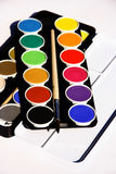 Paintbox on white background. Paintbox on a white background Royalty Free Stock Photos