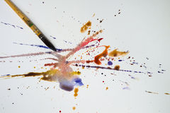 Paintbrush акварели Стоковое Фото