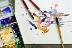 Paintbrush акварели Стоковое Изображение RF