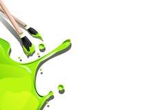 Paintbrush с цветом выплеска Стоковые Изображения