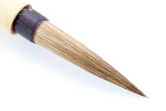 Paintbrush. A photo of a paintbrush over a white background Stock Photography