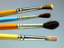 Paintbrush. Es tools for oil or tempera or watercolor painting royalty free stock image