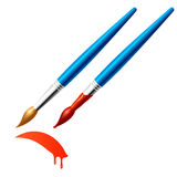 Paintbrush. Vector illustration of a paintbrush Royalty Free Stock Photos