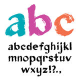 Paintbrush alphabet