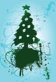 Paintbrush background Christmas Tree Stock Photo