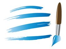 Paintbrush with brush stokes Royalty Free Stock Images