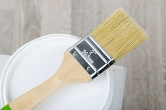 Paintbrush with bucket Stock Photos